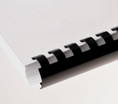 Plastic Comb Binding Black