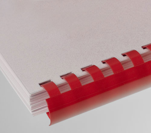 Plastic Comb Binding Red