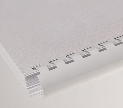 Plastic Comb Binding - White